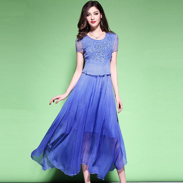 真丝半身裙_一分钱, 一分货, 真丝的连衣裙就是好, 穿着舒适又华贵