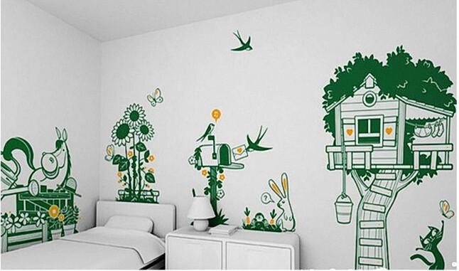幼儿园秋天主题墙面手绘