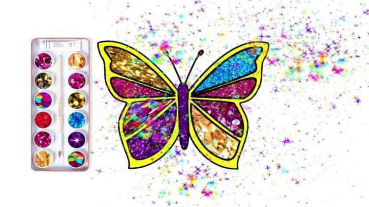 创意早教色彩简笔画: 一起画蝴蝶涂上漂亮的颜色吧