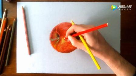 超写实绘画: 红苹果
