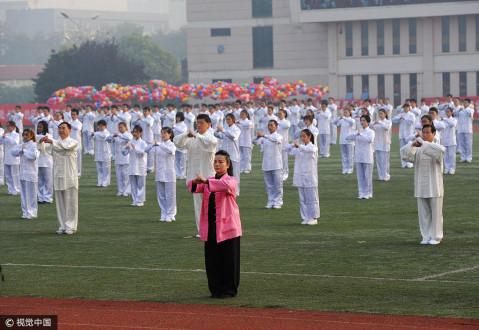 江苏徐州500名师生表演太极拳 场面壮观 - 微信奴图片