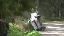 拉力赛老司机,车祸还能翻回来继续开