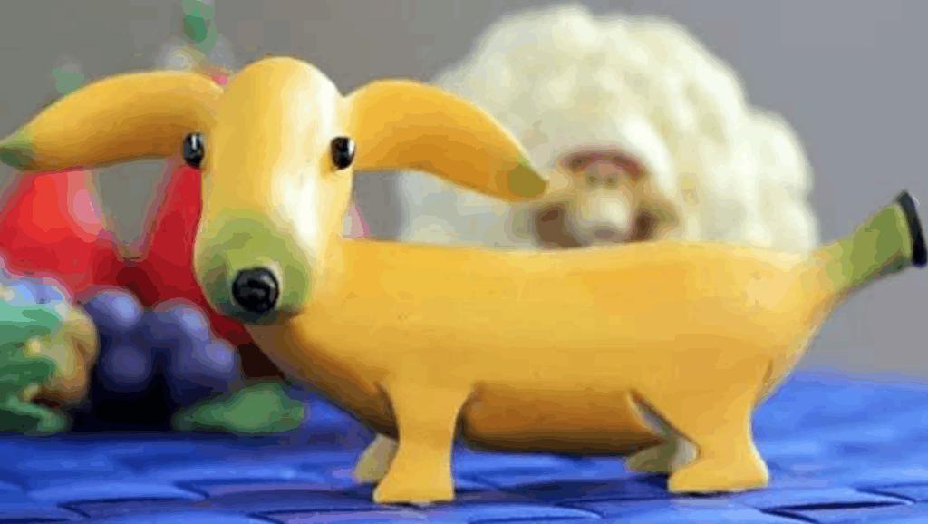 大厨教你用两根香蕉,做出一只敲萌的短腿小柯基