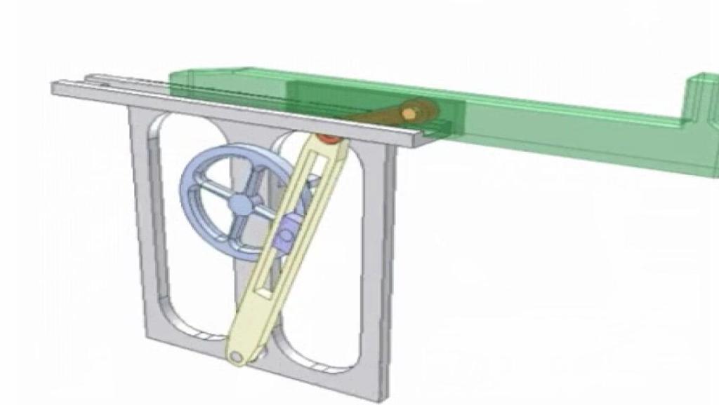神奇的机械原理,这是一个设计巧妙的滑槽成形装置