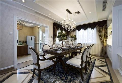 唐山金隅乐府别墅五室两厅320平米欧式风格装修案例效果 大包58万