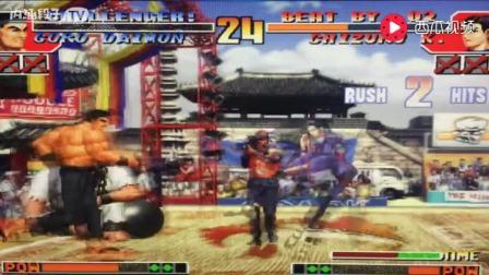 拳皇97: 老K最经典战役之一,残血大门极限操作反败为胜