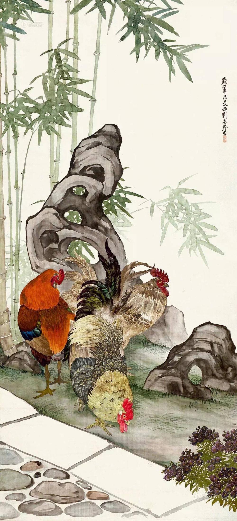 """动物画一代宗师,被誉为""""全能画家"""",能工善写,擅长动物,植物,人物画及"""