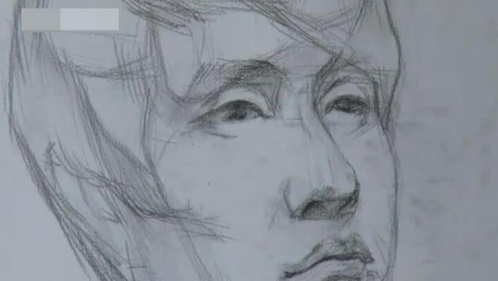素描杨洋简笔画步骤