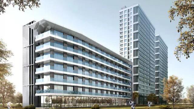 根据设计方案,养老院地上总建筑面积约6500平米,绿化率达35%,主体建筑图片