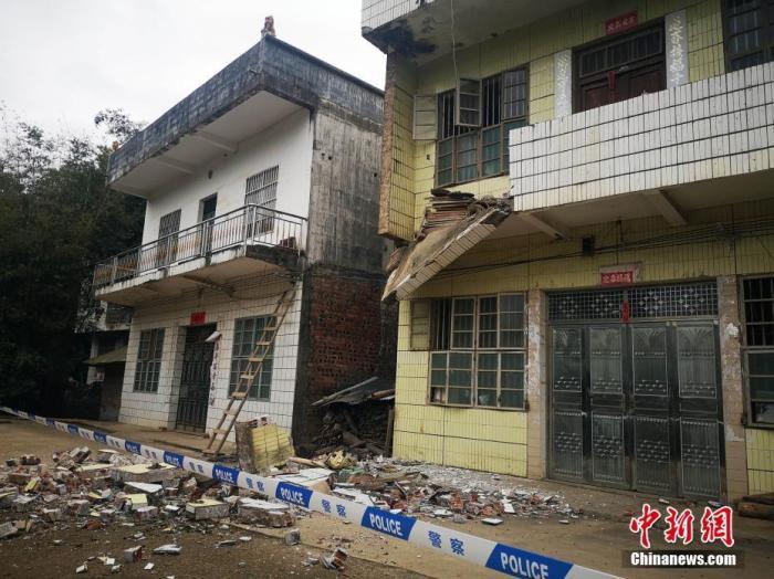 广西靖西发生4.3级地震造成四百多户民房开裂