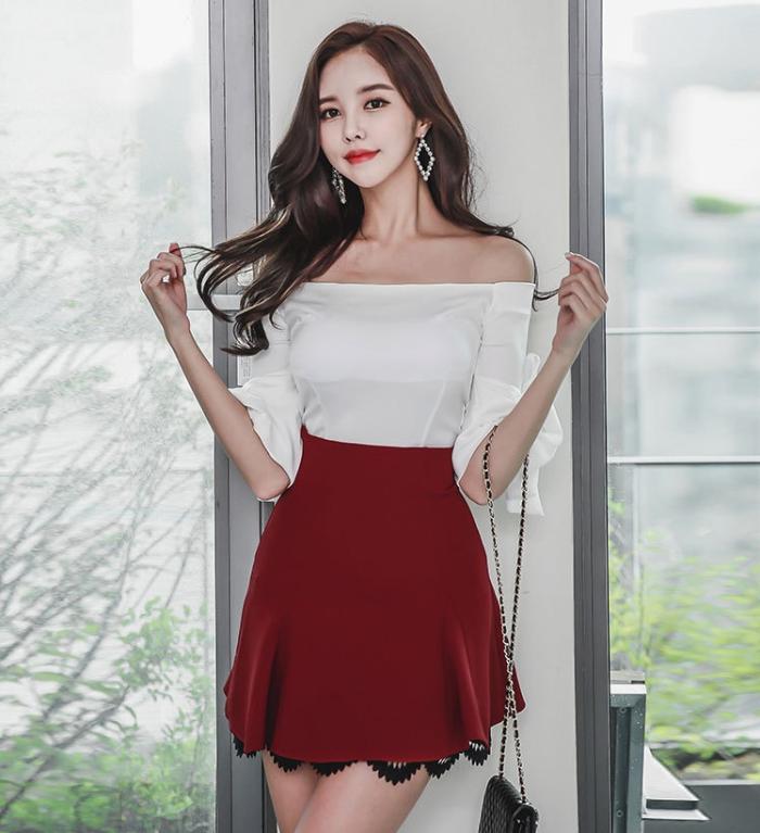 美女的仙气满满的一字裙, 轻盈美丽遮肉显瘦