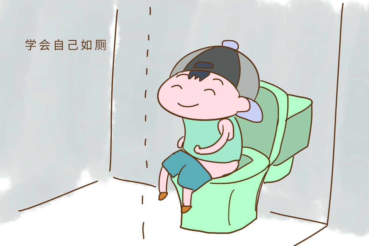 幼儿如厕流程卡通