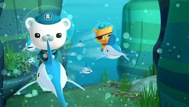 海底小纵队: 果然旗鱼的速度不容小觑 顺利追上逃跑的鲸艇