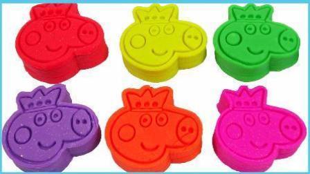 打开 小猪佩奇培乐多彩泥玩具 粉红猪小妹橡皮泥长颈鹿动物模具试玩