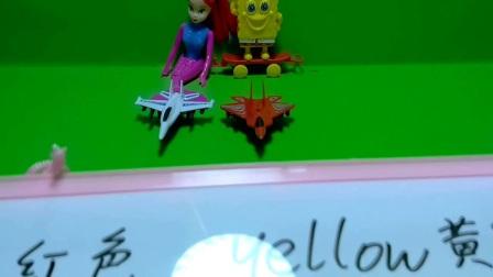 海绵宝宝动画片之痞老板超级飞侠粉红小猪佩奇宝宝爱涂色亲子小游戏