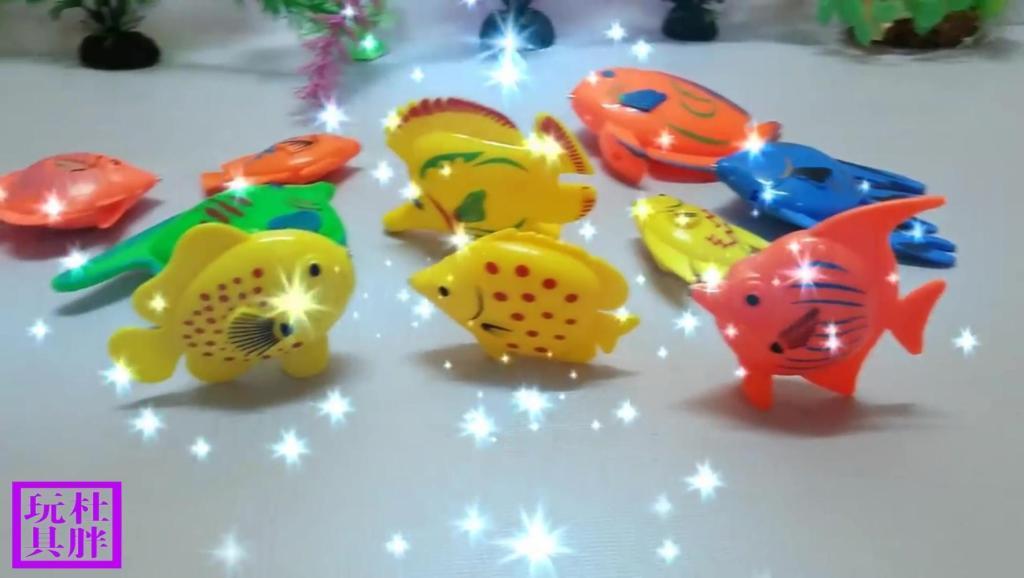 打开 打开 亲子早教益智玩具 培乐多彩泥制作海底小鱼,好多海鱼在盆