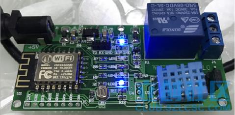 云平台实现温度,湿度,光照,远程继电器控制的工程源代码,集成mqtt协议