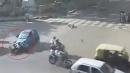 实拍最诡异离奇车祸现场 男子被撞瞬间竟消失不见