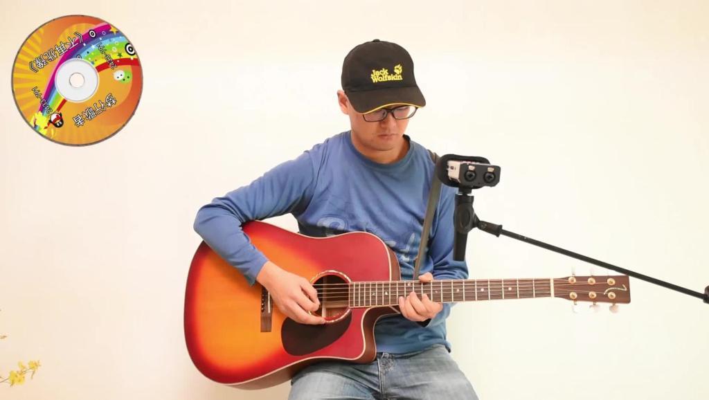 [牛人]吉他郝浩涵教程传奇弹唱美女教程吉他教捆钞吉他图片