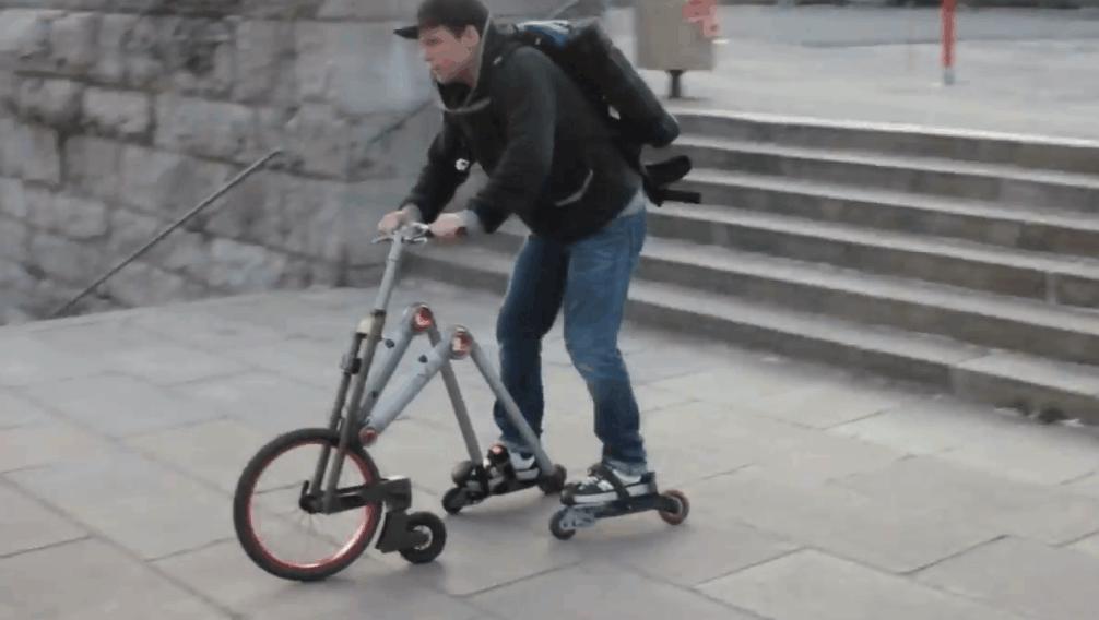 自行车与轮滑的完美结合,这发明我给满分!