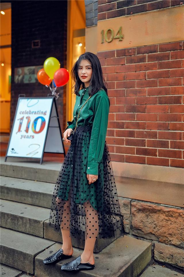 黑色雪纺半身裙搭配_好看时髦的雪纺半身裙集合, 轻松搭配又优雅
