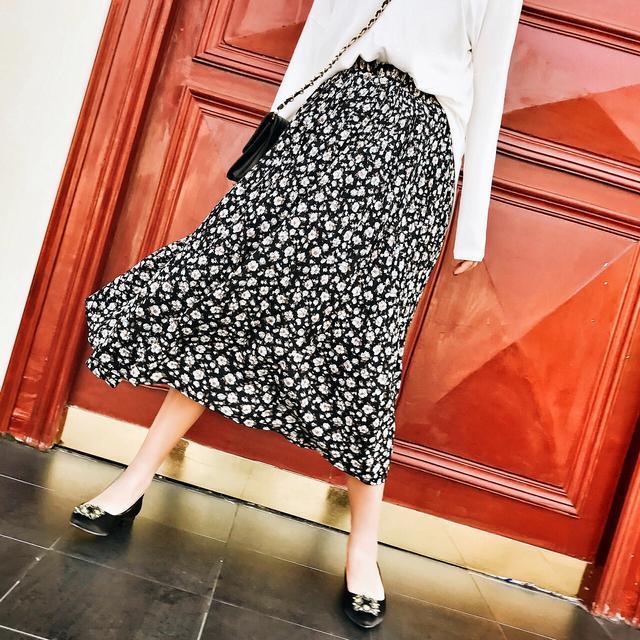 中年女士碎花半身裙_碎花半身裙, 洋气不失女人味, 优雅又不失青春感