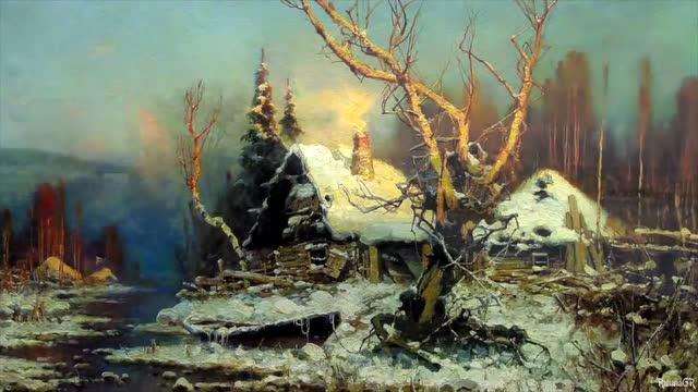 俄画一幅t50油画送给印度 打开 俄罗斯油画家风景油画欣赏「寰球创意