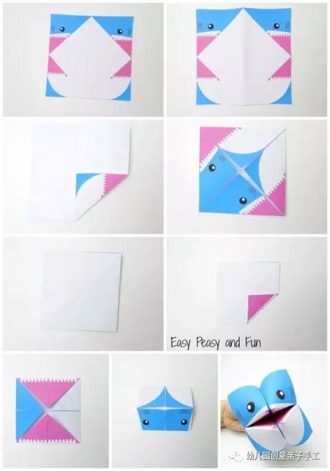 """亲子手工之折纸: """"东西南北""""新玩法, 童年的经典"""