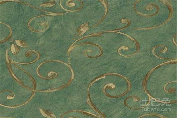 可以使用带有花卉图案的美式乡村风格墙纸,其背景主要是淡绿色的,带来