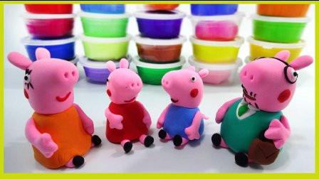 手工制作 益智3d积木拼图玩具游戏 打开 小猪佩奇小猪妈妈彩泥橡皮泥