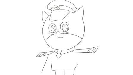 打开 打开 黑猫警长儿童亲子简笔画 打开 变形警车珀利 黑猫警长之昂