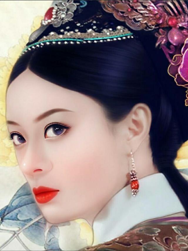ps手绘古装美女, 看到杨幂和赵丽颖的瞬间感觉自己恋爱了!