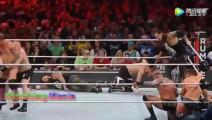 WWE WWE车轮混战赛大布称霸擂台上一个秒杀一个,寸草不生