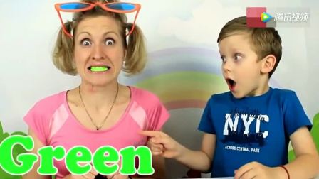 打开 少儿早教亲子互动 萌娃和妈妈搞什么鬼呢 牙齿都变彩色了 广告 0