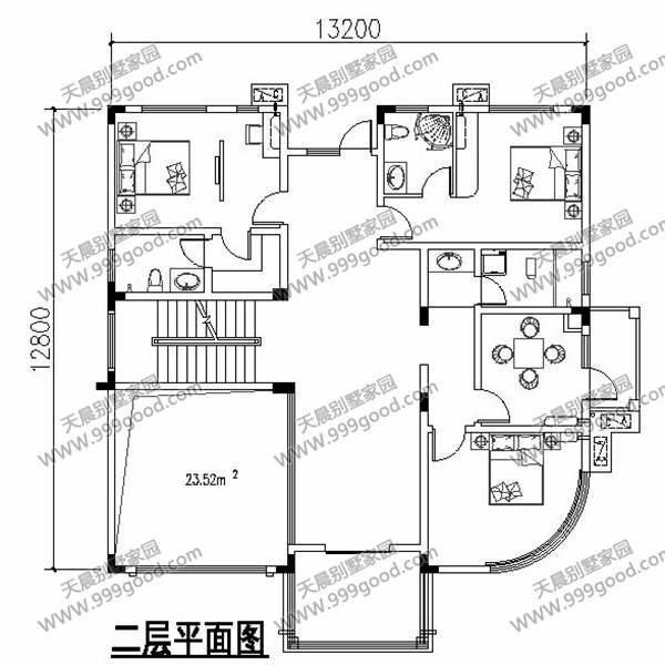 新农村自建房 农村别墅设计图三层13×12复式带车库 美爆!