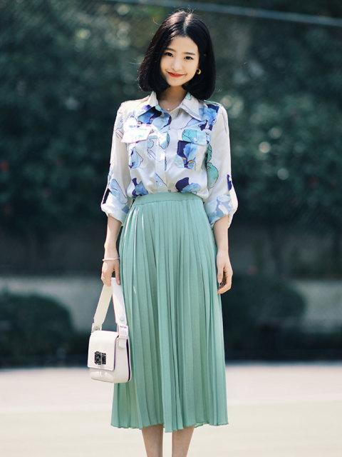 半身裙制作_气质优雅的半身裙是打造森系look的利器, 好看百搭文艺气质爆表