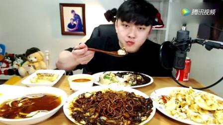 韩国吃播: YUDITY帅哥吃糖醋肉+炸酱面+三丝炒饭+煎饺子