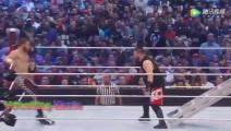 WWE WWE洲际冠军混战赛,米兹摔断铁梯近乎摘得腰带却被别人抢去