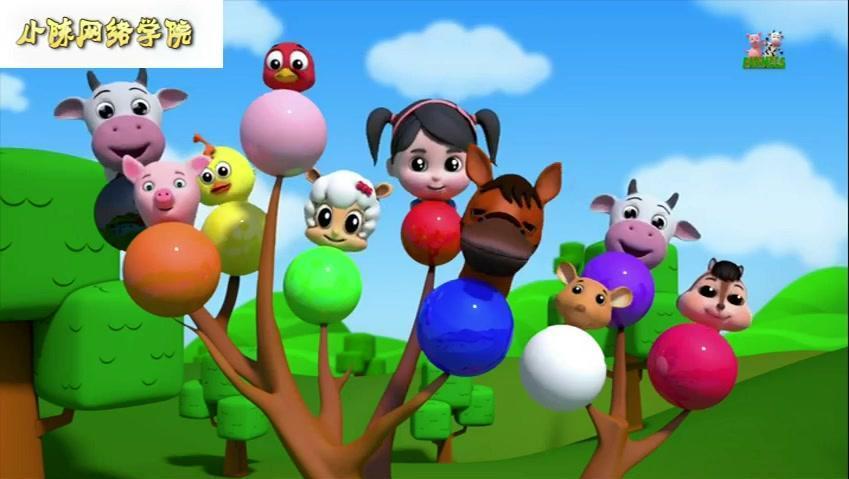 复活的害羞草爱盟幼儿园 种子熊出没早教动画片