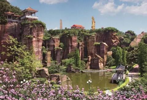 广州莲花山风景区莲花山风景区既是古代人民一锤一钎开凿而成,又经历