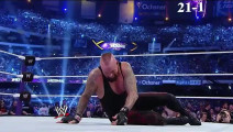 WWE葬爷的辉煌没了,被布洛克终结,每次看都好感动呀