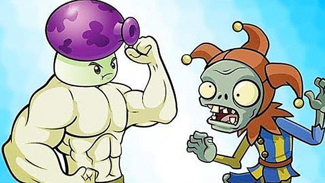 植物大战僵尸 当小丑僵尸刮起龙卷风,大喷菇: 都闪开,把它交给我