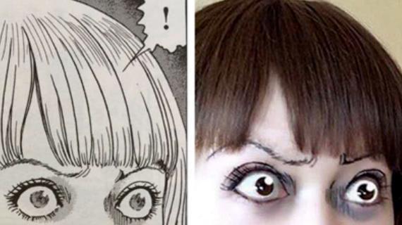 日本妹子COS伊藤润二漫画