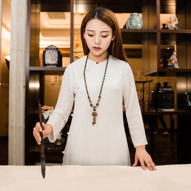 """姑娘不要穿韩版了, """"改良汉服""""才是17年的流行趋势, 优雅大方 20"""