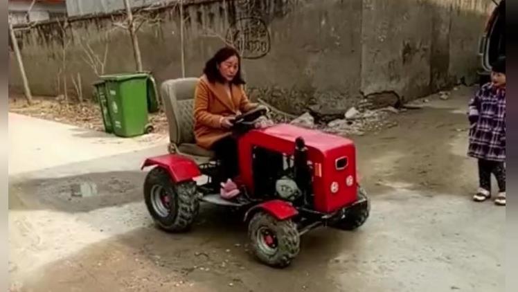 沙滩车改装的迷你型拖拉机?