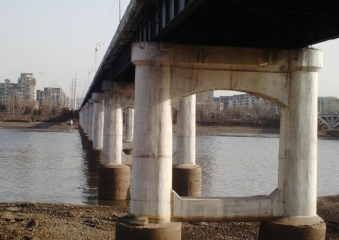 其中11孔为钢质结构,其余为水泥简支梁.由于老葛布桥被鉴定为危桥.