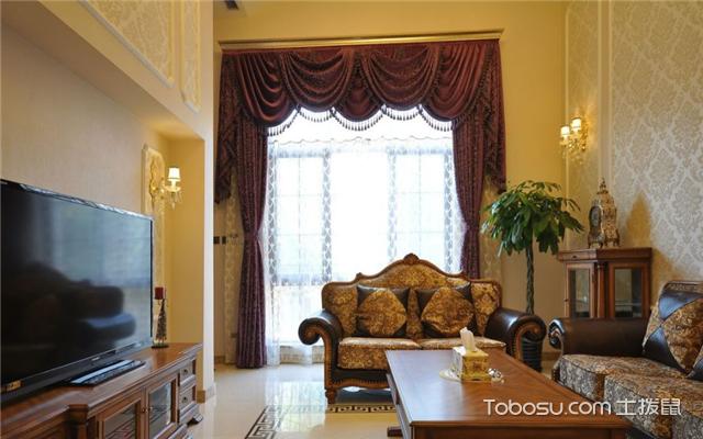 欧式客厅阳台窗帘装修效果图赏析, 客厅阳台窗帘设计集锦