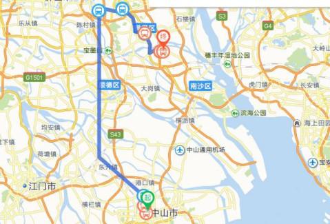 中山港口镇地图
