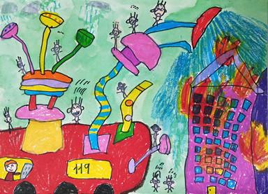儿童画 主题积极向上,体现时代气息,该画什么好