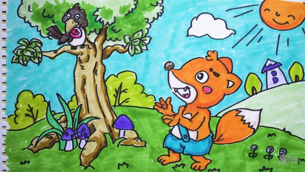 打开 打开 神笔简笔画 中外童话故事 拇指姑娘,儿童绘画马克笔教程